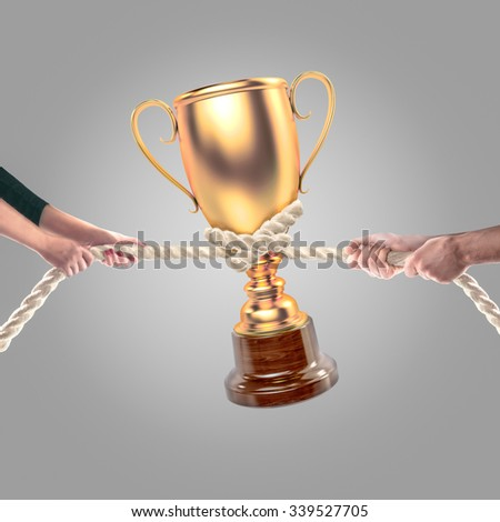 Hands of people pulling the rope. Cooperation concept - stock photo