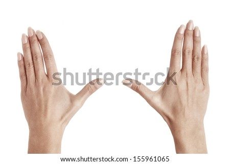 hands of woman isolated