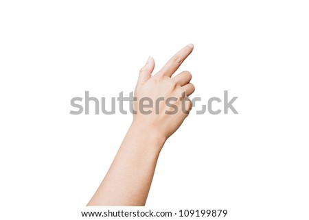 Hands of women isolated on white background - stock photo