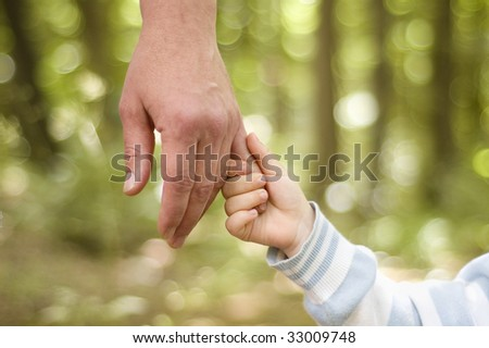 hands over nature background