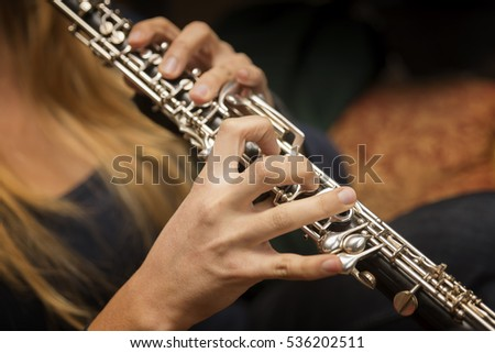 Hands Playing Oboe