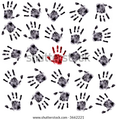 Hands Print (very detailed) - stock photo