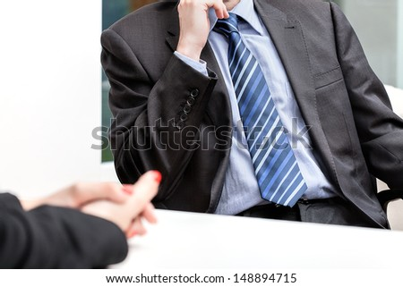 Hands put together, business conversation, isolated background