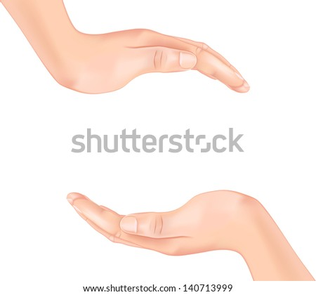 hands. Rasterized illustration. Vector version in my portfolio - stock photo
