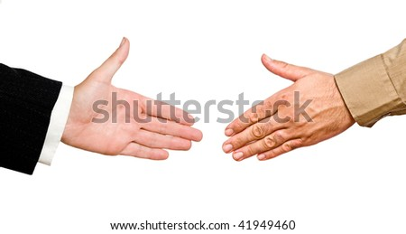 Hands ready for handshake