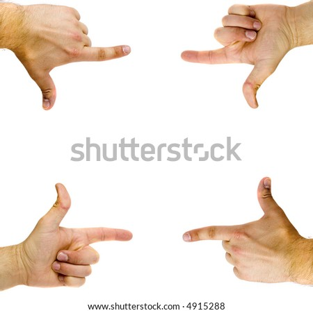 Hands shaped in viewfinder or frame
