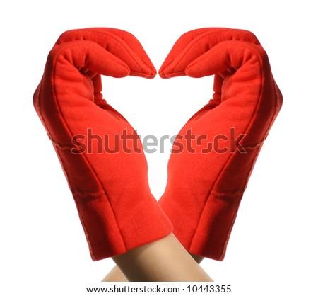 hands show heart - stock photo