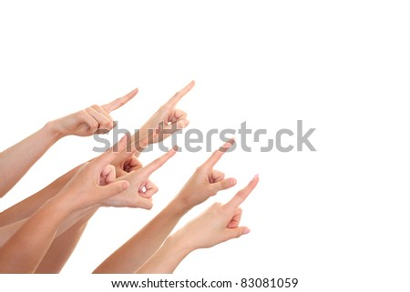 Hands showing your product - stock photo