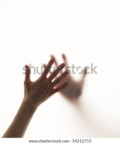 Hands touching - stock photo