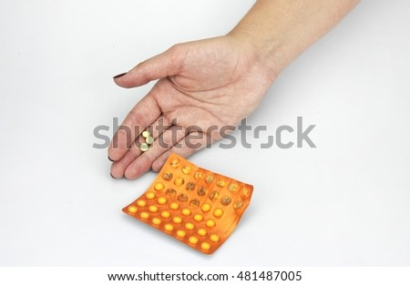 hands with drugs