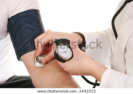 hands with stethoscope
