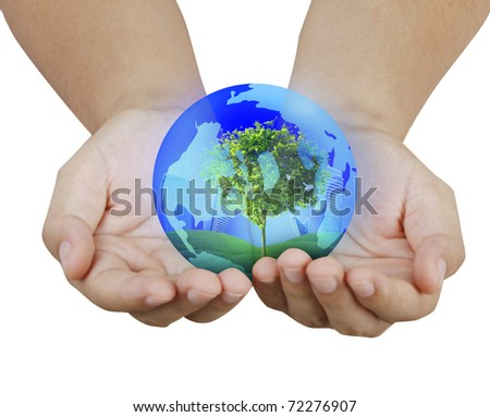 hands with the earth