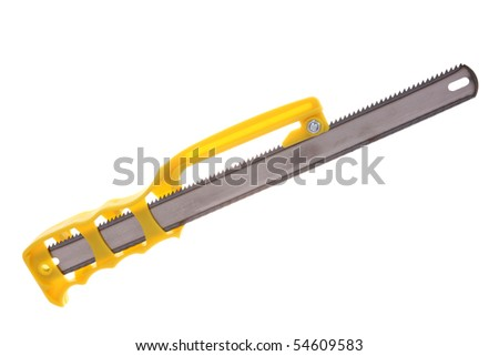 Handsaw for cutting metal, isolated on white
