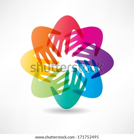 handshake and friendship icon - stock photo