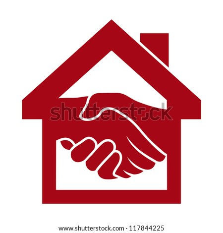 Handshake and successful real estate transactions - stock photo