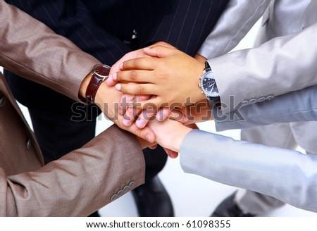 Handshake and teamwork - stock photo