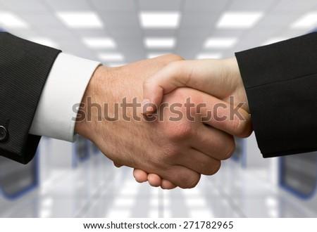 Handshake, Business, Finance. - stock photo