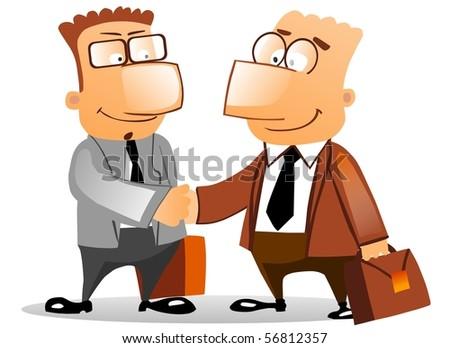 Handshake business people. - stock photo