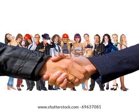 Handshake Business Team