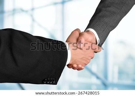 Handshake. Businesspeople Shaking Hands During Meeting - stock photo