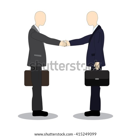 Handshake colleagues at the meeting. Business etiquette. - stock photo