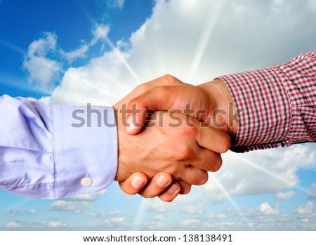 Handshake concept - stock photo