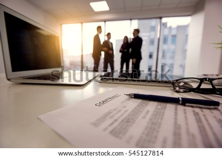 Handshake Conclusion Agreement Transaction Business Peo Stock Photo