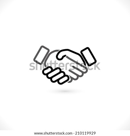 handshake  icon. - stock photo