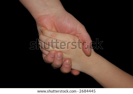 Handshake isolated on black with clipping-path included, just copy and paste into your work! - stock photo