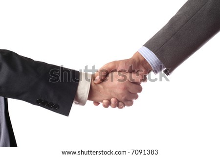 handshake isolated over white background isolated