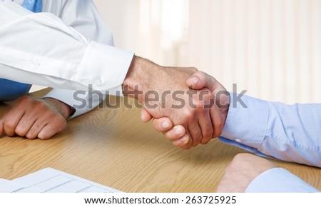 Handshake. It's a deal - stock photo