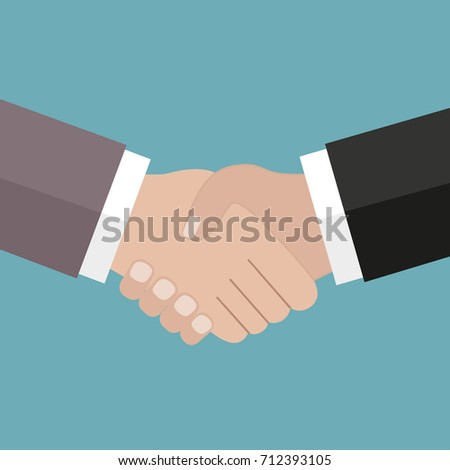 handshake partners on a green background