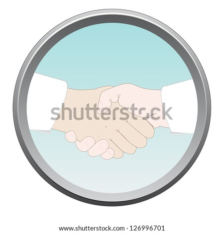 Handshake sign. - stock photo