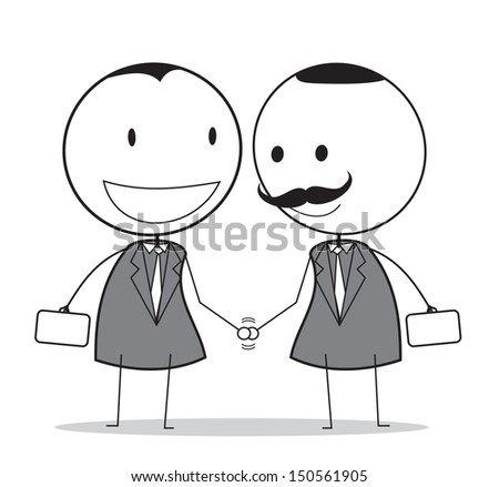 handshake with senior businessman  - stock photo