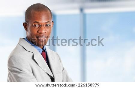 Handsome african businessman portrait  - stock photo