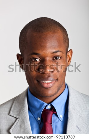 Handsome african businessman portrait