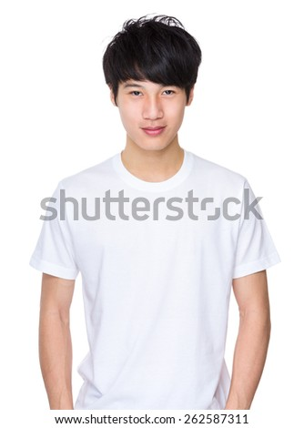 Handsome asian young man - stock photo