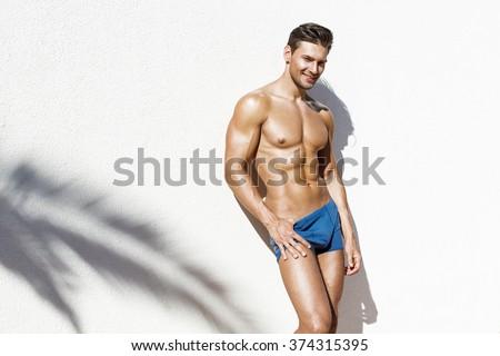 Handsome athletic man  - stock photo