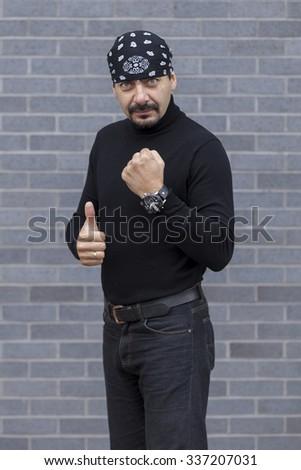 Handsome beard man - stock photo