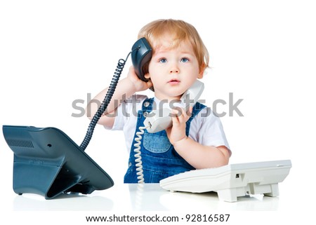 handsome boy talking on the phone - stock photo