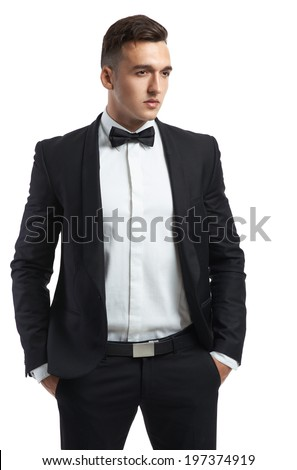 handsome business man in a suit