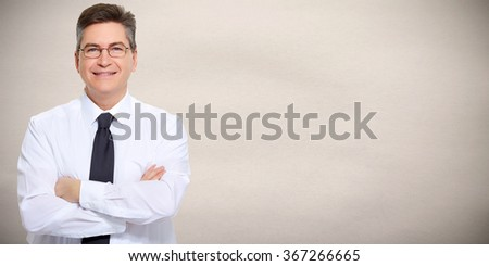 Handsome businessman. - stock photo