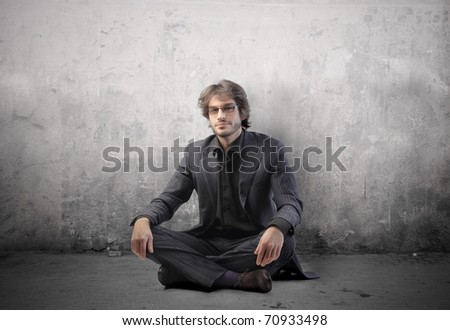 Handsome businessman - stock photo