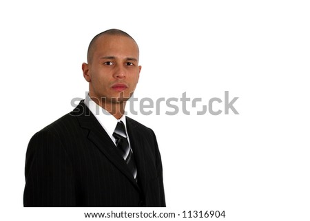 Handsome Businessman Young man in stylish business fashion - over white background.
