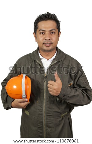 Handsome engineer - stock photo