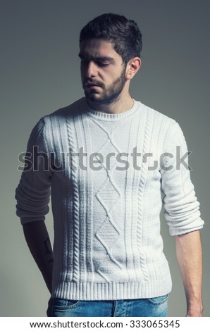 handsome fashion man with beard