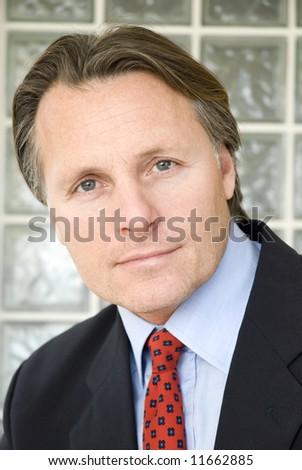 handsome fortysomething businessman. - stock photo