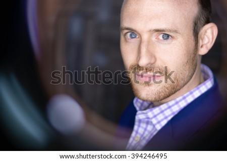 HANDSOME GUY HEADSHOT  - stock photo