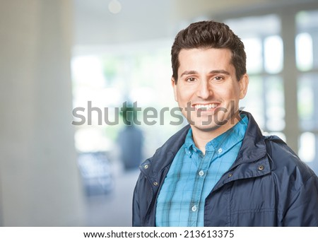 Handsome happy smiling young man  - stock photo