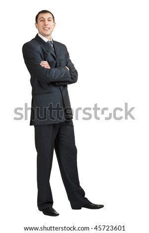 handsome isolated businessman on white background